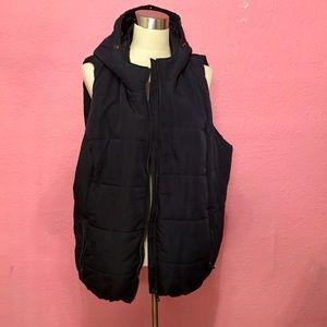 Liz Claiborne Blue puffer vest with hood